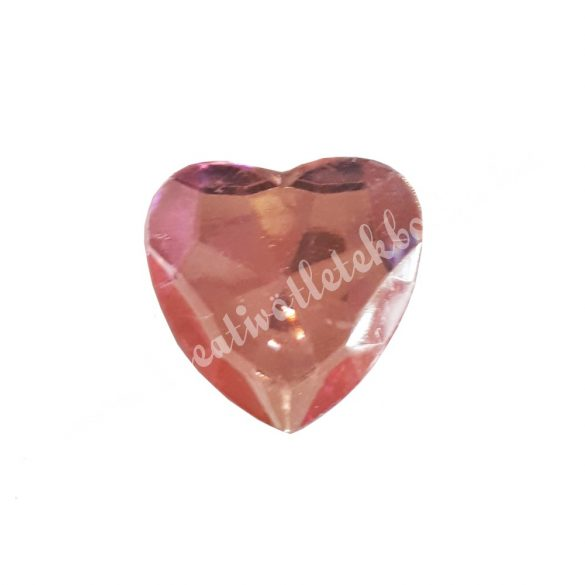 Ragasztható szív, műanyag, rózsaszín