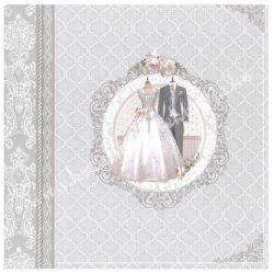 Scrapbook papír, Esküvő, 30,5x30,5 cm