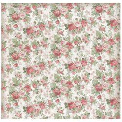Scrapbook papír, Rózsák, 30,5x30,5 cm