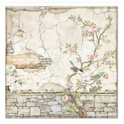 Scrapbook papír, Téglák fával, 30,5x30,5 cm