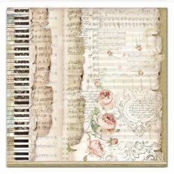 Scrapbook papír, Zene, 31,5x30 cm