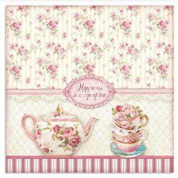 Scrapbook papír, Egy csésze tea, 31,5x30 cm