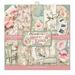 Scrapbook tömb, House of Roses, 30,5x30,5 cm, 10db/csomag