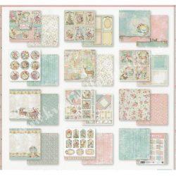 Scrapbook tömb, Pink Christmas, 20,3x20,3 cm, 10db/csomag