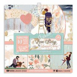 Scrapbook tömb, Love story, 20,3x20,3 cm, 10db/csomag
