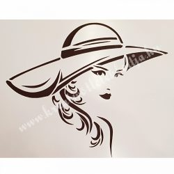 Stencil, Hölgy kalapban, A4 (cadence)