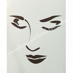 Stencil 83., Női arc, A4 (cadence)