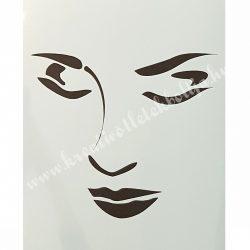 Stencil 83., Női arc, A4
