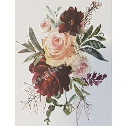 Textiltranszfer, Rózsák, 25x35 cm