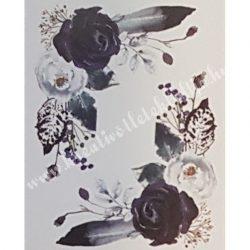 Textiltranszfer, Rózsák tollal, 25x35 cm