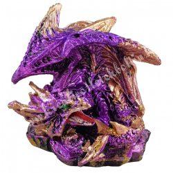 Sárkányvilág, Kristálybarlang Leye, lila, 4,5x4x4 cm