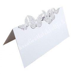 Ültetőkártya, pillangók, 9 cm, 10 db/csomag