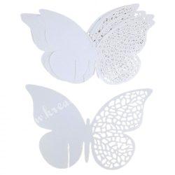 Pohárjelölő, pillangó, 12,5x7,5 cm, 10 db/csomag
