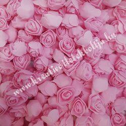 Habrózsa/ polifoam rózsa, rózsaszín, 3 cm, 50 db/csomag