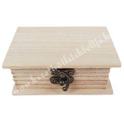 Fa könyvdoboz, 15,5x10 cm