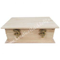 Fa könyvdoboz, 23,5x17,5 cm