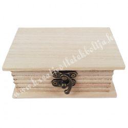 Fa könyvdoboz, 11x7,5 cm