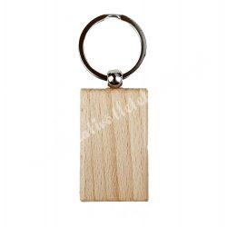 Kulcstartó bükkfából, téglalap alakú, 3,2x5,2 cm