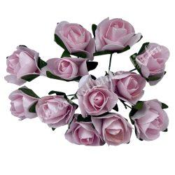 Papír rózsacsokor, rózsaszín, 12 szál/csomag