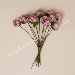 Papír rózsacsokor, lila, 12 szál/csomag