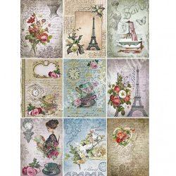 Rizspapír, Vintage romantikus hangulatok, A4 (R0534)