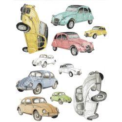 Rizspapír, Autók, A4 (R0885)