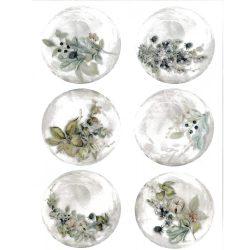 Rizspapír, Buborék, virágos, (R1634