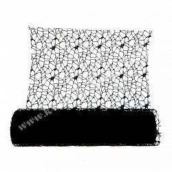 Hálós szalag, fekete, 1 méter