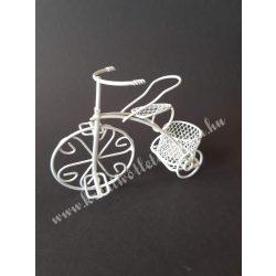Fém tricikli magas kosárral