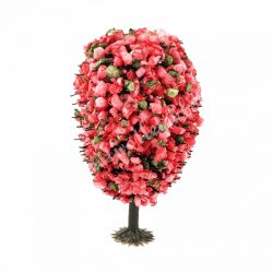 Rózsaszín virágos fa, 4 cm