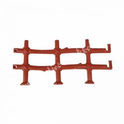 Csatlakoztatható kerítés, 3 rácsos, barna