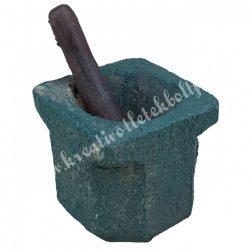 Kőőrlő, zöld, 4,5x6 cm