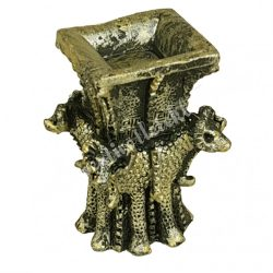 Mini szobor, antik arany, 3x4,5 cm