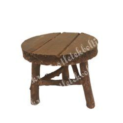 Mini kerek asztal, barna