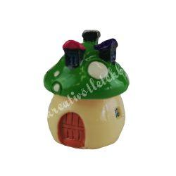 Mini gombaház, zöld, 3 cm