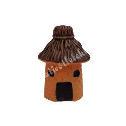 Mini kunyhó, nádtetős (narancssárga, sötétbarna)