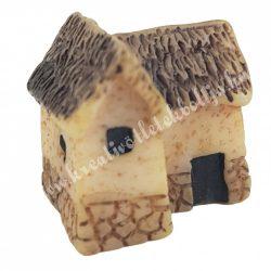 Mini házikó, bézs, 2x2 cm