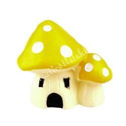 Mini gombaházak, sárga