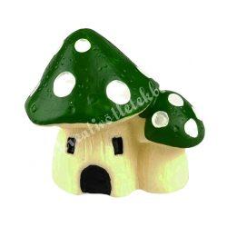 Mini gombaházak, zöld