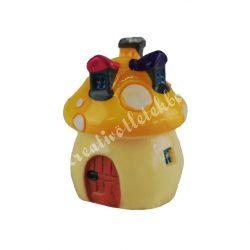 Mini gombaház, sárga, 2,5 cm