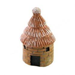 Kis kunyhó, nádtetővel (barna)