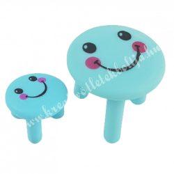 Mini asztal kisszékkel, kék, smile, 2db/szett