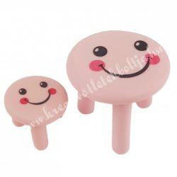 Mini asztal kisszékkel, rózsaszín, smile, 2db/szett