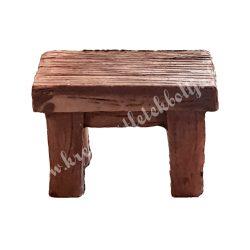 Mini asztal, barna
