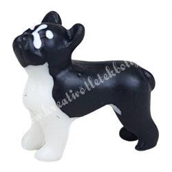 Mini francia bulldog, fekete-fehér, 2 cm