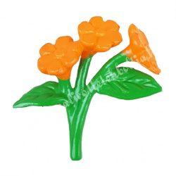 Mini virágcsokor, narancssárga, 2,5x3 cm