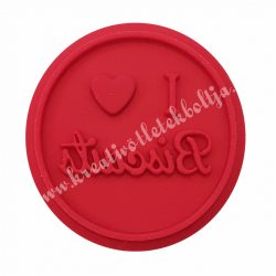 Sütipecsét fogó nélküli, I LOVE BISCUIT, 6,1 ×1,2 cm
