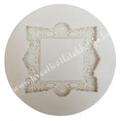 Marcipán, fondant mintázó, szilikon, Ornamentális keret, 4,5 cm
