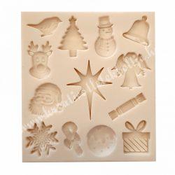 Szilikon mintázó, karácsonyi, 13 részes