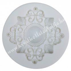 Marcipán, fondant mintázó, szilikon, bross, 4,5 cm